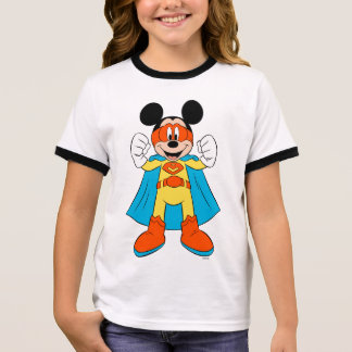 Mickey Mouse | Super Hero Cute Ringer T-Shirt