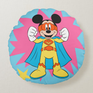 Mickey Mouse | Super Hero Cute Round Pillow