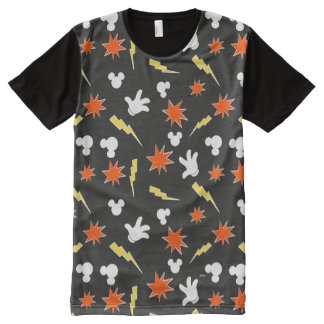 Mickey Mouse | Super Hero Icon Pattern All-Over-Print T-Shirt