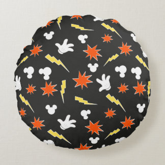 Mickey Mouse | Super Hero Icon Pattern Round Pillow