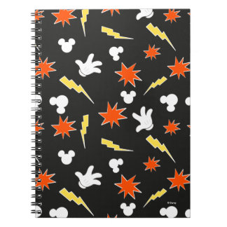 Mickey Mouse | Super Hero Icon Pattern Spiral Notebook
