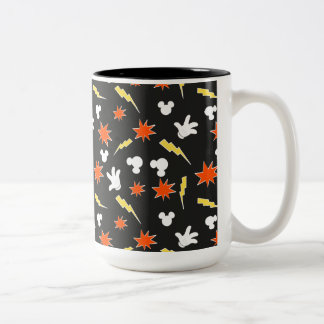 Mickey Mouse | Super Hero Icon Pattern Two-Tone Coffee Mug
