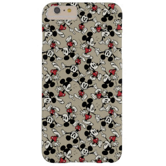 Mickey Mouse Tan Pattern Barely There iPhone 6 Plus Case