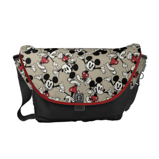 Mickey Mouse Tan Pattern Messenger Bag
