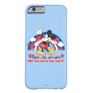 Mickey Mouse With Patriotic Peace Rainbow Barely There iPhone 6 Case
