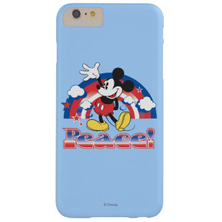 Mickey Mouse With Patriotic Peace Rainbow Barely There iPhone 6 Plus Case