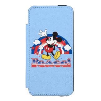 Mickey Mouse With Patriotic Peace Rainbow Incipio Watson™ iPhone 5 Wallet Case