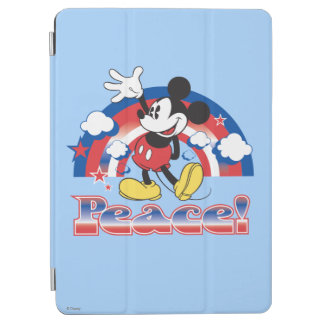 Mickey Mouse With Patriotic Peace Rainbow iPad Air Cover