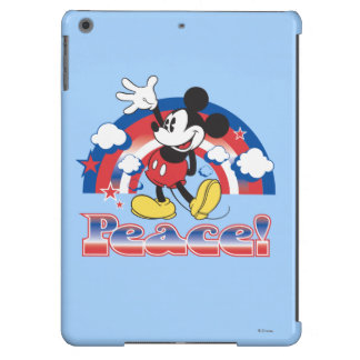 Mickey Mouse With Patriotic Peace Rainbow iPad Air Covers