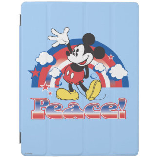 Mickey Mouse With Patriotic Peace Rainbow iPad Cover