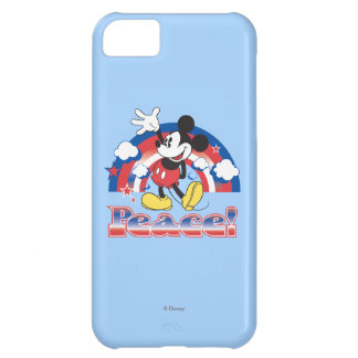 Mickey Mouse With Patriotic Peace Rainbow iPhone 5C Cases