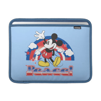 Mickey Mouse With Patriotic Peace Rainbow MacBook Air Sleeves
