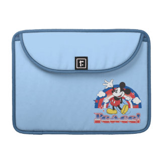 Mickey Mouse With Patriotic Peace Rainbow Sleeve For MacBooks