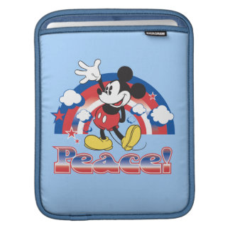 Mickey Mouse With Patriotic Peace Rainbow Sleeves For iPads