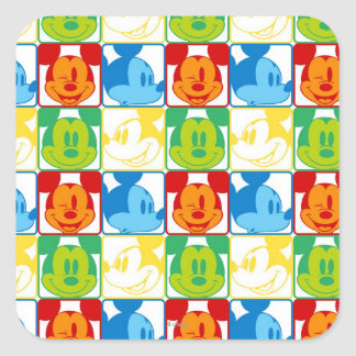 Mickey Pattern 7 Square Sticker