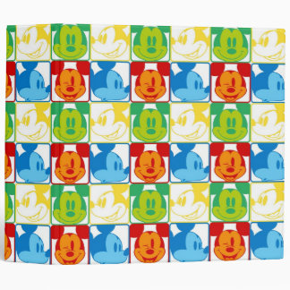 Mickey Pattern 7 Vinyl Binders