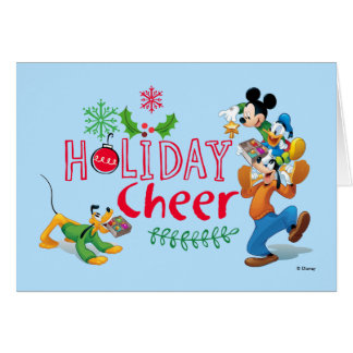 Mickey Spreading Holiday Cheer Card
