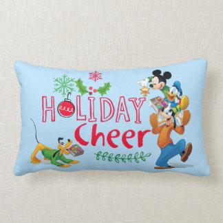 Mickey Spreading Holiday Cheer Lumbar Pillow