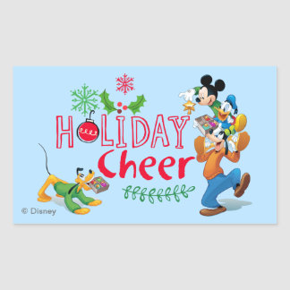 Mickey Spreading Holiday Cheer Sticker