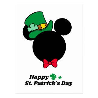 Mickey   St. Patrick's Day Icon Postcard