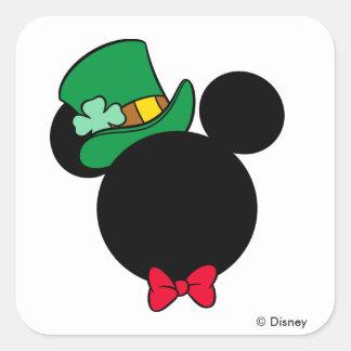 Mickey | St. Patrick's Day Icon Square Sticker