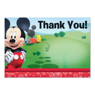 "Mickey Thank You Cards 3.5"" X 5"" Invitation Card"
