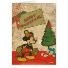 Mickey   Vintage Merry Christmas Card