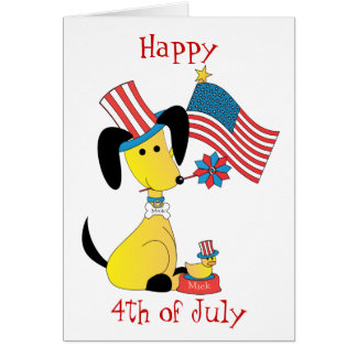 mickjuly, Happy, 4th of July Card