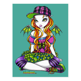 """Micky"" Punky Rainbow Fairy Art Postcard"