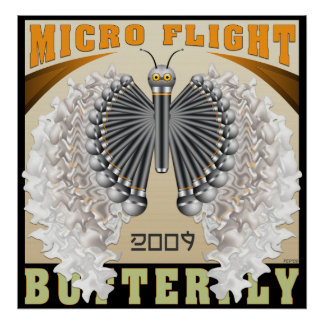 Micro Flight Butterfly Poster