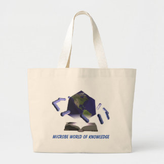 Microbe World of Knowledge, Microbe World of Kn... Large Tote Bag