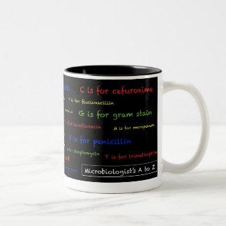 Microbiologist's A to Z mug - black