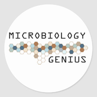 Microbiology Genius Round Sticker