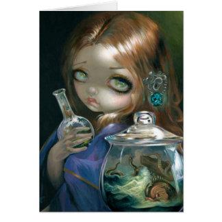 """Microcosm:  Sea Monsters"" Greeting Card"