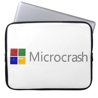 Microcrash Screen of Death Logo Laptop Sleeve