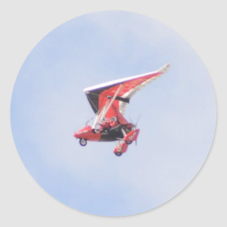 Microlight Airplane Classic Round Sticker