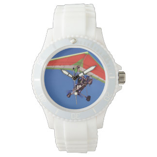 Microlight Flying In Sky, Western Cape Wrist Watch