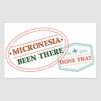 Micronesia Been There Done That Sticker
