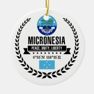 Micronesia Ceramic Ornament