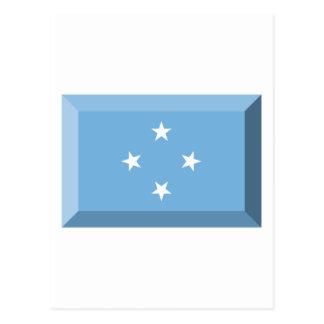 Micronesia Flag Jewel Postcard