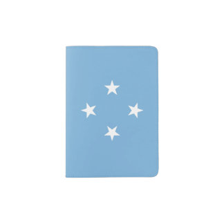 Micronesia Flag Passport Holder