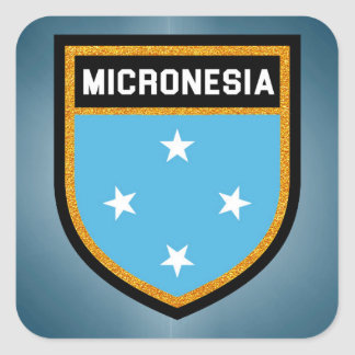 Micronesia Flag Square Sticker
