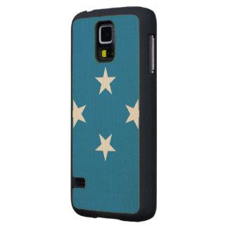 Micronesia Flag Carved® Maple Galaxy S5 Slim Case