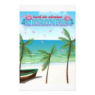 "Micronesia ""Travel into adventure"" Customized Stationery"