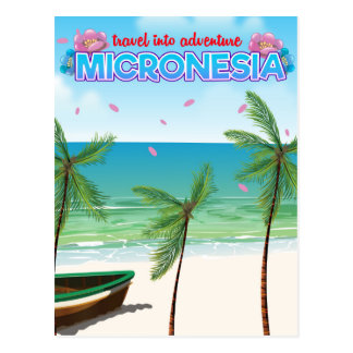 "Micronesia ""Travel into adventure"" Postcard"