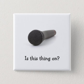 Microphone 2 Inch Square Button