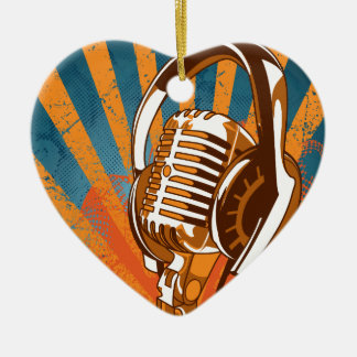 Microphone Ceramic Ornament