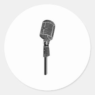 Microphone Classic Round Sticker