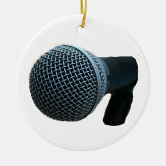 Microphone close up mic cutout design ceramic ornament