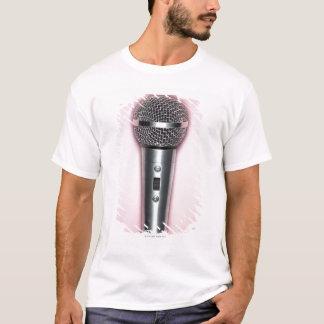 Microphone de chrome t-shirt